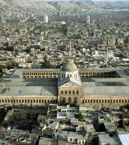 a_la Grande mosquée des Omeyyades à Damas