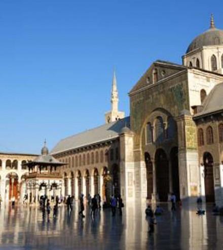 b_la Grande mosquée des Omeyyades à Damas