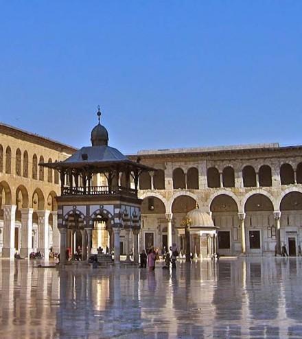 e_la Grande mosquée des Omeyyades à Damas